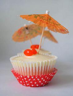 Mai Tai gluten-free cupcakes