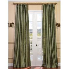 Dupioni Textured Silk Restful Green Curtain Panel  Linens N Things $169.00