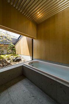 house in nara Japanese Style Bathroom, Japanese Home Design, Japanese House, Bedroom Minimalist, Minimalist Interior, Window In Shower, Ideal Bathrooms, Loft Room, Studio Interior