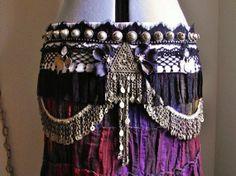 Custom Bellydance Belt- Tribal Fusion, Belly Dance, Vaudeville- Performance Ready