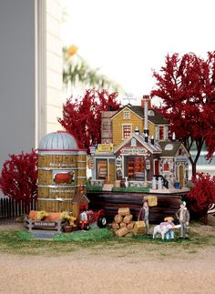 Make 2018 a year to remember with the latest Lemax holiday village collectables. Start a family Christmas tradition with Lemax Village Collection today! Christmas Farm, Lemax Christmas, Christmas In The City, Christmas Village Houses, Halloween Village, Christmas Villages, Halloween Decorations, Xmas, Farm Village