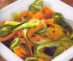Receitas para a Dieta dos 31 Dias com a Bimby: Tagliatelle de cenouras e courgettes