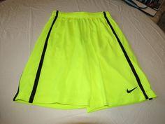 Nike training mesh active fitness gym shorts 524391 yellow 702 Mens XXL logo NEW #Nike #Shorts