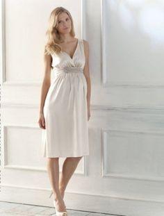 Ivory silk dress www.thebump.com