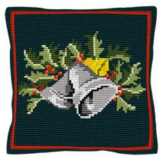 Christmas Bells -  Cross Stitch Kit (printed canvas)