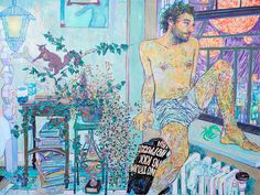 Hope Gangloff, the notoriously private and increasingly buzzy American painter, talks about her new work with Stanford.