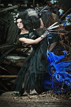 Suzy Johnston + Associates | Benjamin Von Wong #vonwong #fashion #goth #scissorhands