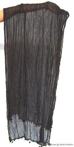 Dupattas for Women - Black cotton dupattas by JahanviFashionShop on Etsy
