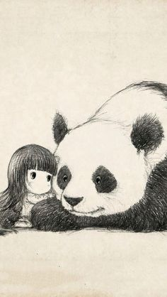 Pandas are my Spirit Animal ♥ Panda Sketch, Panda Drawing, Panda Kawaii, Cute Panda, Panda Panda, Image Panda, Panda Illustration, Panda Wallpapers, Bear Art