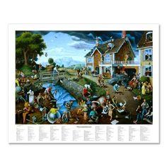 Amazon.com: Proverbidioms - Poster by T. E. Breitenbach. 28x22 inches: Home & Kitchen