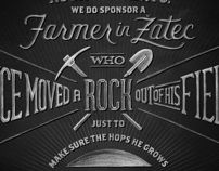 Zatec Beer by Ben Didier, via Behance