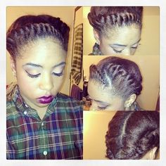 protective styles for natural hair | Natural Hair & Braid Styles / Great Protective Go To