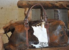 Ain't no weekend like an Old Gringo Weekend! Our Cowhide Weekend Bag (WBM339-1) is available at oldgringodirect.com! #oldgringoboots