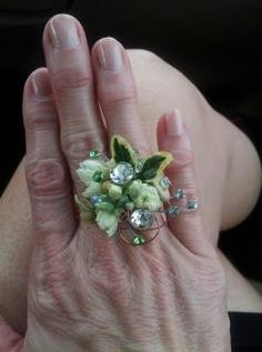 Floral rings customized and one of a kind.... for birthdays, parties, weddings... mother's day or just because
