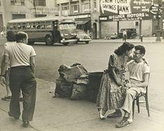 Lovers on the sidewalks