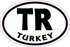 3in x 2in Oval TR Turkey Sticker Vinyl Cup Decal Vehicle Bumper Stickers