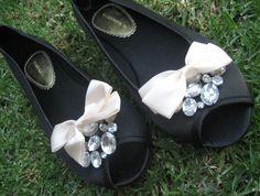On heels :)