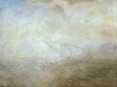 Seascape with Distant Coast Paisaje marino con costa distante Joseph Mallord William Turner 1840 Oil on canvas 914 x 1219 mm The Tate Gallery, London Joseph Mallord William Turner, Watercolor Landscape Paintings, Landscape Art, Abstract Paintings, Art Romantique, Turner Watercolors, Turner Painting, Tate Gallery, Art Uk