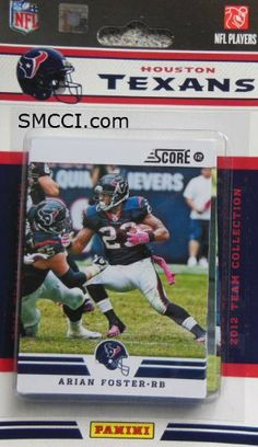 2012 Score Houston Texans Factory Sealed 12 Card Team Set Including Matt Schaub, Arian Foster, Andre Johnson, Owen Daniels, Case Keenum, Devier Posey, Jared Crick, Whitney Mercilius, Kevin Walter, Brian Cushing and Keshawn Martin. by Houston Texans Team Set. $6.99. 2012 Score Houston Texans factory sealed 12 card team set including Matt Schaub, Arian Foster, Andre Johnson, Owen Daniels, Case Keenum, DeVier Posey, Jared Crick, Whitney Mercilius, Kevin Walter, Brian Cushing an...
