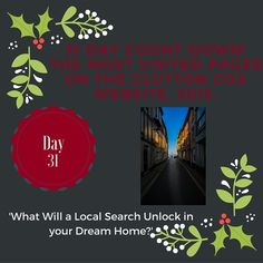 And finally...Day 31 of our countdown! Find out about Local Searches! Our most popular topic. #localsearches #movinghome #home