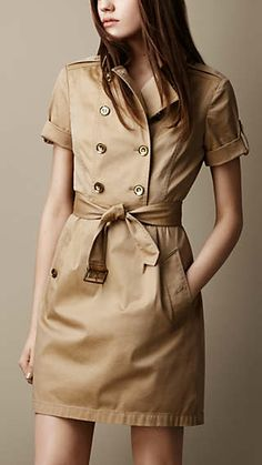 Shop for Burberry Cotton Twill Trench Dress at ShopStyle. Trench Dress, Jumpsuit Dress, Coat Dress, Shirt Dress, Safari Outfits, Safari Dress, Burberry Dress, Burberry Brit, Trench Burberry