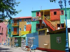 El Caminito in La Boca, Buenos Aires. Cute little street filled with vendors, artists, and Tango dancers.