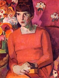 "Anne Estelle Rice British ""Portrait of Katherine Mansfield , at Looe in Cornwall"" , . She established a close relationship with Katherine Mansfield modernist writer . Katherine Mansfield, Woman Painting, Figure Painting, Painting & Drawing, Art And Illustration, Harlem Renaissance, People Reading, L'art Du Portrait, Figurative Kunst"