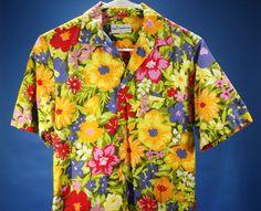 Vintage Men's Duke Kahanamoku Hawaiian Shirt Floral Size Small By Kahala 1960's #DukeKahanamoku #Hawaiian