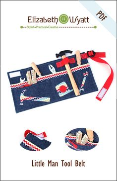 Instant Download  Little Man Tool Belt Sewing by ElizabethWyatt, $8.00  - perfect birthday gift for kids' toy tools