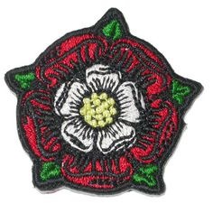 Iron On Patch Applique Tudor Rose