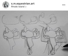 How to draw a saddle PC: in pic