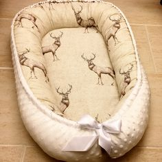 Handmade Double sided Organic Baby Nest Bed-Deers