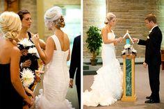 REAL DOOR COUNTY WEDDING, Wisconsin. Photo by GreatScott Images. Location: Corpus Christi Catholic Church.