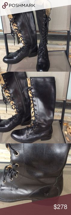 FRYE Melissa tall lace boots Worn few times,great condition Frye Shoes