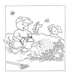 Kleurplaten Bobbi In De Herfst.52 Beste Afbeeldingen Van Kleurplaat Day Care Activities For Kids