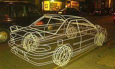 Wire frame Subarusculpture