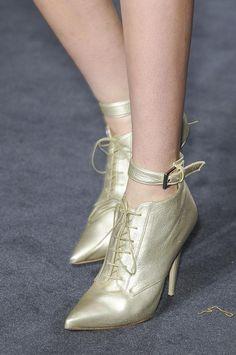 Julien Macdonald Metallic Ankle Boots Fall Winter 2013 #Shoes #Booties