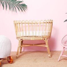 The Koolah baby bassinet is hand made showcasing whimsically rattan petal encased in a solid rattan frame. Its elegant and classy appearance will suit any new nursery Screws And Bolts, Decorative Bows, Baby Bassinet, Foam Mattress, Baby Size, Rattan, Cosy, Cribs, Nursery