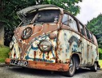Utlimate 1966 VW Split Rat Look Bus  for sale - VERY COOL