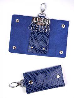 Ключница 100 Blue,Кожгалантерея оптом,сумки кошельки оптом, купить сумки клатчи оптом
