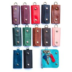 Check out this item in my Etsy shop https://www.etsy.com/listing/519678111/leather-key-holder-personalized-key
