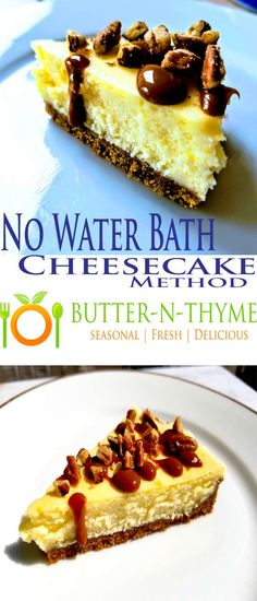 No Water Bath Needed Cheesecake is the Way of the Future for Baking Cheesecake. Very cool new bakeware used #cheesecake butter-n-thyme.com