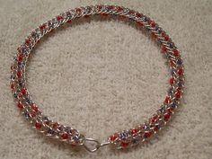 Silver Plated Patriotic Viking Knit Bangle Red & by BraceletsByJoy, $17.00