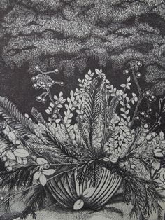 Plant Arrangement done in Black Ink. Was done for my class as one of my assignments. One of my favorite projects by far. Ink, Abstract, Artwork, Summary, Work Of Art