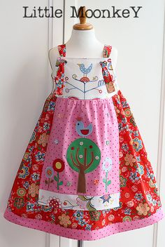 Custom Boutique Little Moonkey EASTER Dress OOAK by littlemoonkey, $60.00