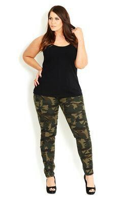 f5f7bb289261a6 City Chic - CAMO CADET CARGO - Women's plus size fashion Just add moto  jacket and the look is complete