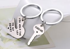 A sappy keychain that will motivate your significant other to not lose their keys.