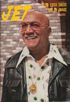 The weekly source of African American political and entertainment news. Jet Magazine, Black Magazine, Black Actors, Black Celebrities, Ebony Magazine Cover, Magazine Covers, Redd Foxx, Sanford And Son, Vintage Black Glamour