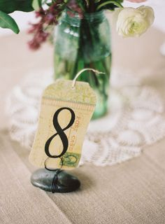 vintage table numbers - Google Search