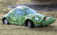 VW bug transformed into turtle